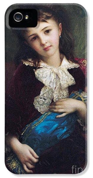 Portrait Of Catherine Du Bouchage IPhone 5 / 5s Case by Antoine Auguste Ernest Hebert