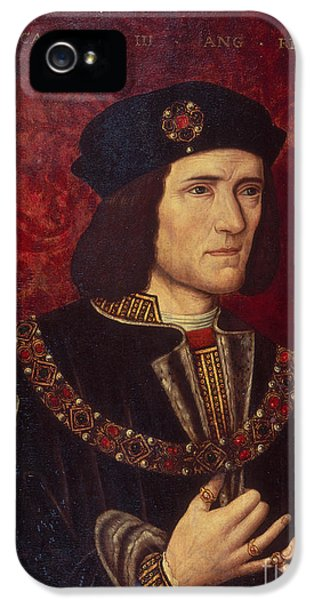 Oil House iPhone 5 Cases - Portrait of King Richard III iPhone 5 Case by English School