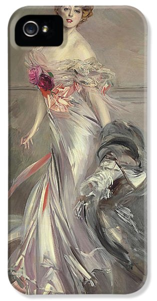 Portrait Of Marthe Regnier IPhone 5 / 5s Case by Giovanni Boldini