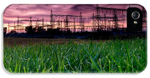 Power iPhone 5 Cases - Power Lines Sunset iPhone 5 Case by Cale Best