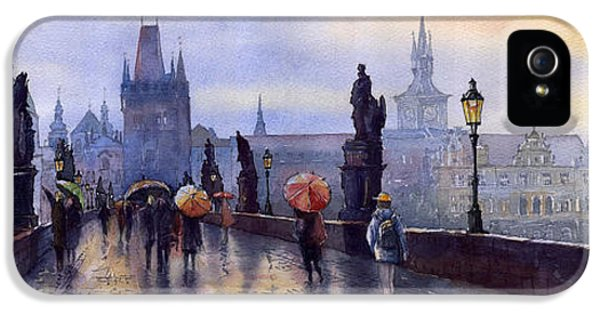 Architecture iPhone 5 Cases - Prague Charles Bridge iPhone 5 Case by Yuriy  Shevchuk