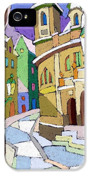 Pastel iPhone 5 Cases - Prague Old Street Karlova Winter iPhone 5 Case by Yuriy  Shevchuk