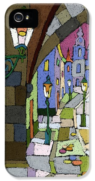 Pastel iPhone 5 Cases - Prague Old Street Mostecka iPhone 5 Case by Yuriy  Shevchuk