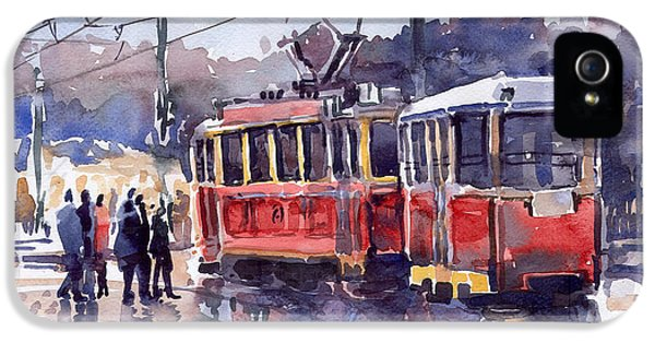 Old Tram iPhone 5 Cases - Prague Old Tram 01 iPhone 5 Case by Yuriy  Shevchuk