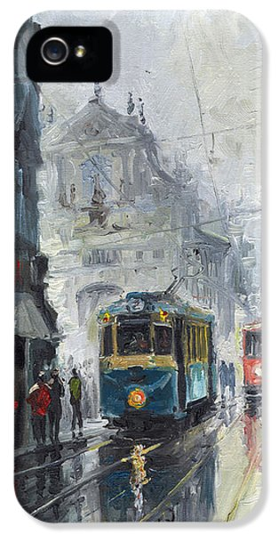 Old Tram iPhone 5 Cases - Prague Old Tram 04 iPhone 5 Case by Yuriy  Shevchuk