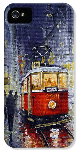 Old Tram iPhone 5 Cases - Prague Old Tram 06 iPhone 5 Case by Yuriy  Shevchuk