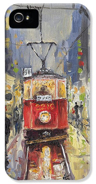 Old Tram iPhone 5 Cases - Prague Old Tram 08 iPhone 5 Case by Yuriy  Shevchuk