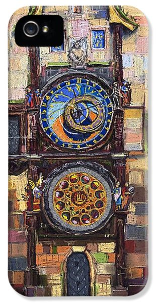 Clock iPhone 5 Cases - Prague The Horologue at OldTownHall iPhone 5 Case by Yuriy  Shevchuk