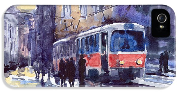 Old Tram iPhone 5 Cases - Prague Tram 02 iPhone 5 Case by Yuriy  Shevchuk