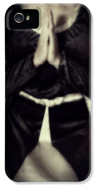 Contemplative iPhone 5 Cases - Praying iPhone 5 Case by Joana Kruse