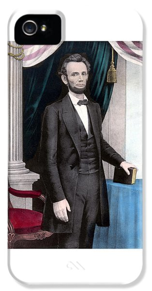 President Abraham Lincoln In Color IPhone 5 / 5s Case by War Is Hell Store