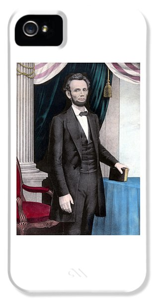 Abraham Lincoln iPhone 5 Cases - President Abraham Lincoln In Color iPhone 5 Case by War Is Hell Store
