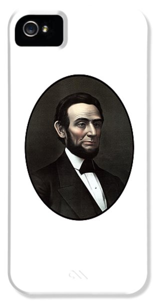 Abraham Lincoln iPhone 5 Cases - President Abraham Lincoln  iPhone 5 Case by War Is Hell Store
