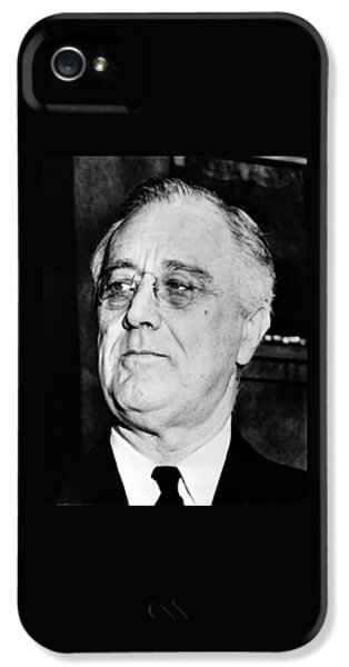 White House iPhone 5 Cases - President Franklin Delano Roosevelt iPhone 5 Case by War Is Hell Store