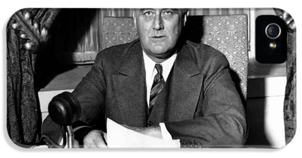 White House iPhone 5 Cases - President Franklin Roosevelt iPhone 5 Case by War Is Hell Store