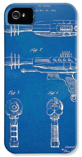 Steam-punk iPhone 5 Cases - Pyrotomic Disintegrator Pistol Patent iPhone 5 Case by Nikki Marie Smith
