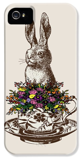 Rabbit In A Teacup IPhone 5 / 5s Case by Eclectic at HeART