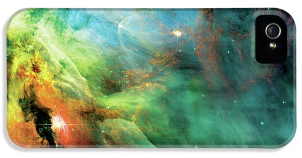 Solar System iPhone 5 Cases - Rainbow Orion Nebula iPhone 5 Case by The  Vault - Jennifer Rondinelli Reilly