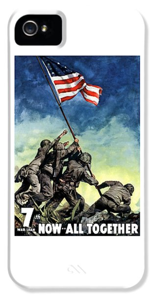Us Flag iPhone 5 Cases - Raising The Flag On Iwo Jima iPhone 5 Case by War Is Hell Store