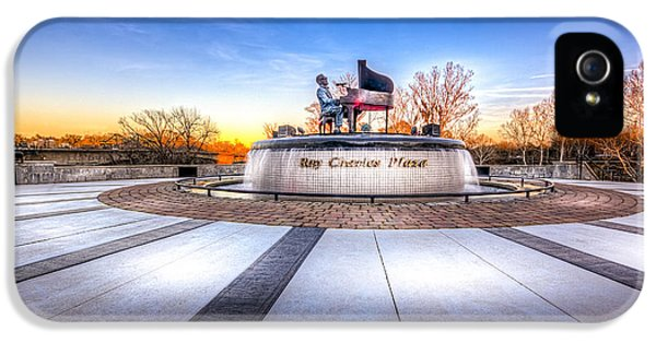 Farmland iPhone 5 Cases - Ray Charles Plaza iPhone 5 Case by Marvin Spates