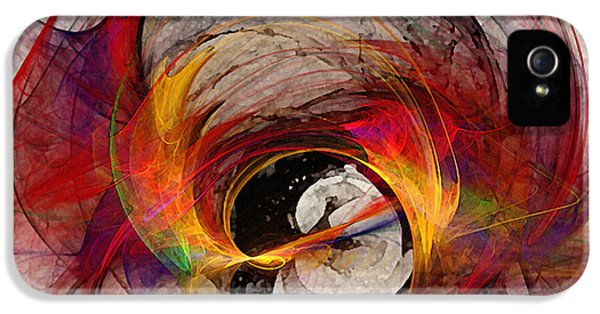 Contemplative iPhone 5 Cases - Reaction Abstract Art iPhone 5 Case by Karin Kuhlmann