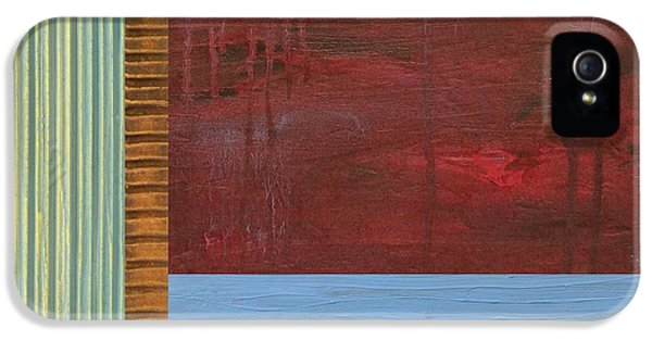 Lake iPhone 5 Cases - Red and Blue Study iPhone 5 Case by Michelle Calkins