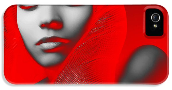 Dress iPhone 5 Cases - Red Beauty  iPhone 5 Case by Naxart Studio