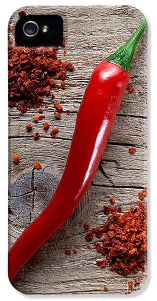 Burnt iPhone 5 Cases - Red Chili Pepper iPhone 5 Case by Nailia Schwarz