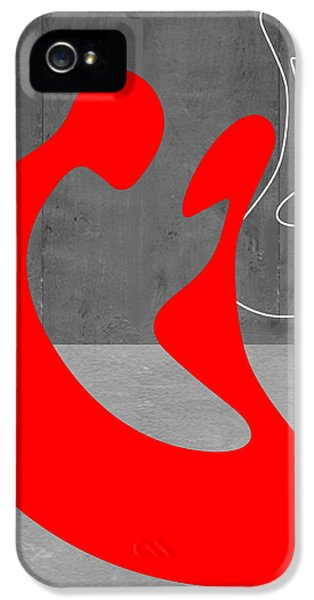 Romantic iPhone 5 Cases - Red Couple iPhone 5 Case by Naxart Studio