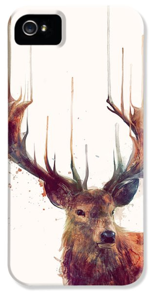 Red Deer IPhone 5 / 5s Case by Amy Hamilton