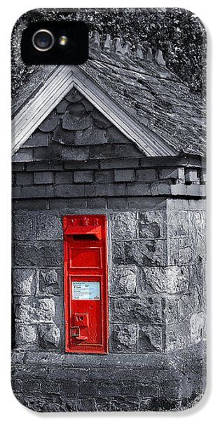 Box iPhone 5 Cases - Red Post Box iPhone 5 Case by Simon Kayne