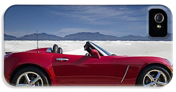 Roadsters iPhone 5 Cases - Red Sky White Sands iPhone 5 Case by Douglas Pittman