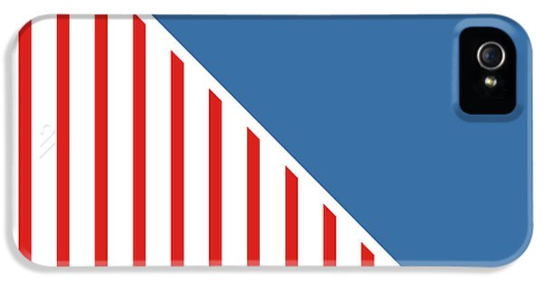 July 4th iPhone 5 Cases - Red White And Blue Triangles iPhone 5 Case by Linda Woods