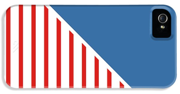 Red White And Blue Triangles IPhone 5 / 5s Case by Linda Woods