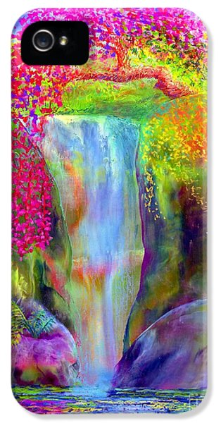 Abstract Landscape iPhone 5 Cases - Redbud Falls iPhone 5 Case by Jane Small