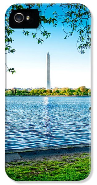 Declaration Of Independance iPhone 5 Cases - Reflection of Washington iPhone 5 Case by Greg Fortier