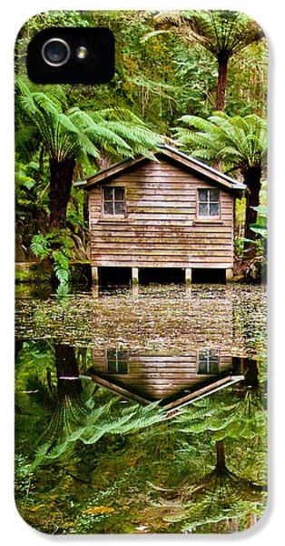 Hut iPhone 5 Cases - Reflections On The Pond iPhone 5 Case by Az Jackson