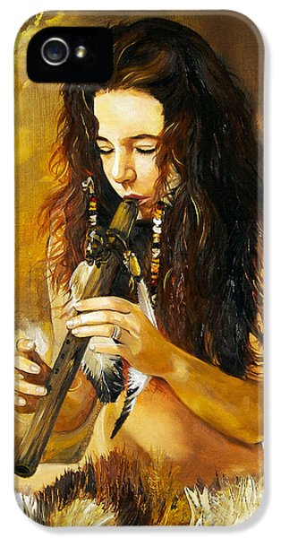 Native American Woman iPhone 5 Cases - Release iPhone 5 Case by J W Baker