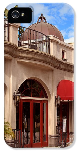 Ristorante iPhone 5 Cases - Restaurant in the Plaza iPhone 5 Case by James Eddy