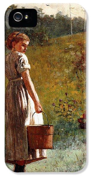 Winslow Homer iPhone 5 Cases - Returning From The Spring iPhone 5 Case by Winslow Homer