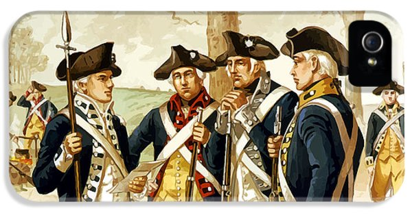 Memorial Day iPhone 5 Cases - Revolutionary War Infantry iPhone 5 Case by War Is Hell Store