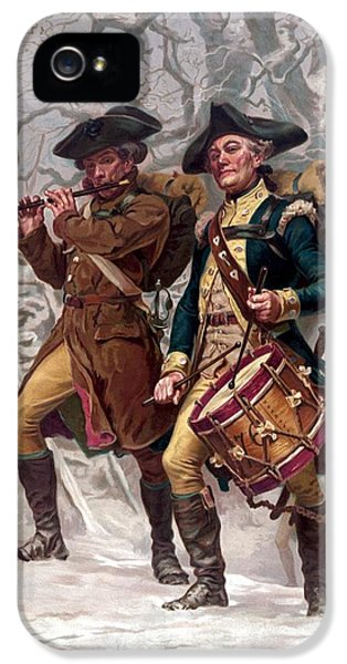 July 4th iPhone 5 Cases - Revolutionary War Soldiers Marching iPhone 5 Case by War Is Hell Store