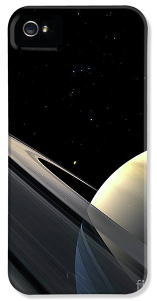 Circling iPhone 5 Cases - Rings Of Saturn iPhone 5 Case by Fahad Sulehria