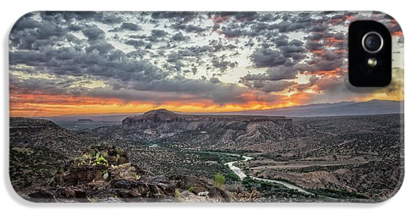 Rio Grande River Sunrise 2 - White Rock New Mexico IPhone 5 / 5s Case by Brian Harig