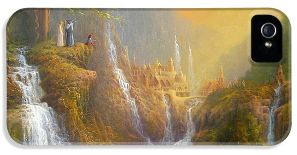 Rivendell Wisdom Of The Elves. IPhone 5 / 5s Case by Joe  Gilronan