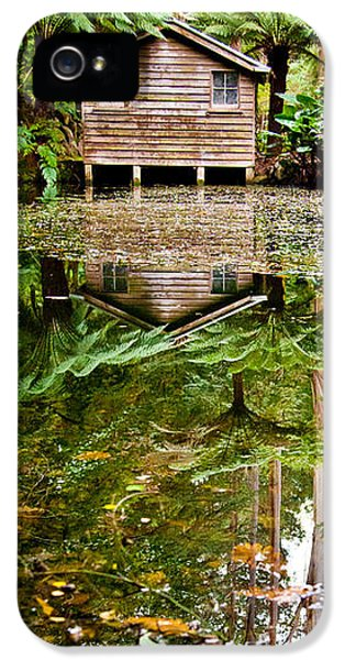 Hut iPhone 5 Cases - River Reflections iPhone 5 Case by Az Jackson
