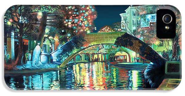 Texas iPhone 5 Cases - Riverwalk iPhone 5 Case by Baron Dixon