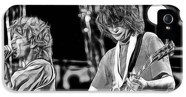 Robert Plant And Jimmy Page IPhone 5 / 5s Case by Marvin Blaine