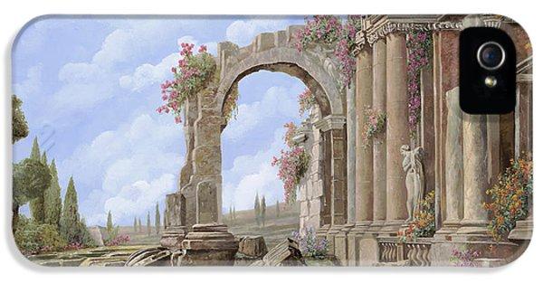 Empire iPhone 5 Cases - Roman ruins iPhone 5 Case by Guido Borelli