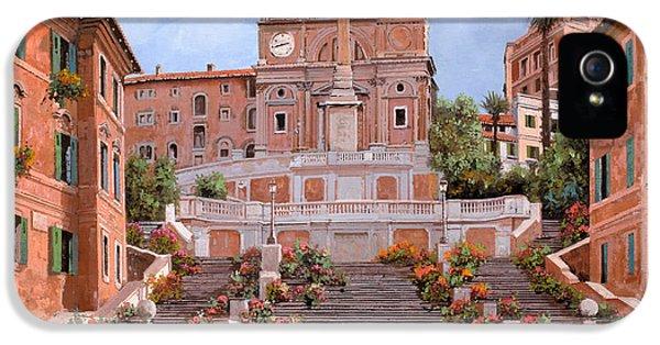 Rome-piazza Di Spagna IPhone 5 / 5s Case by Guido Borelli
